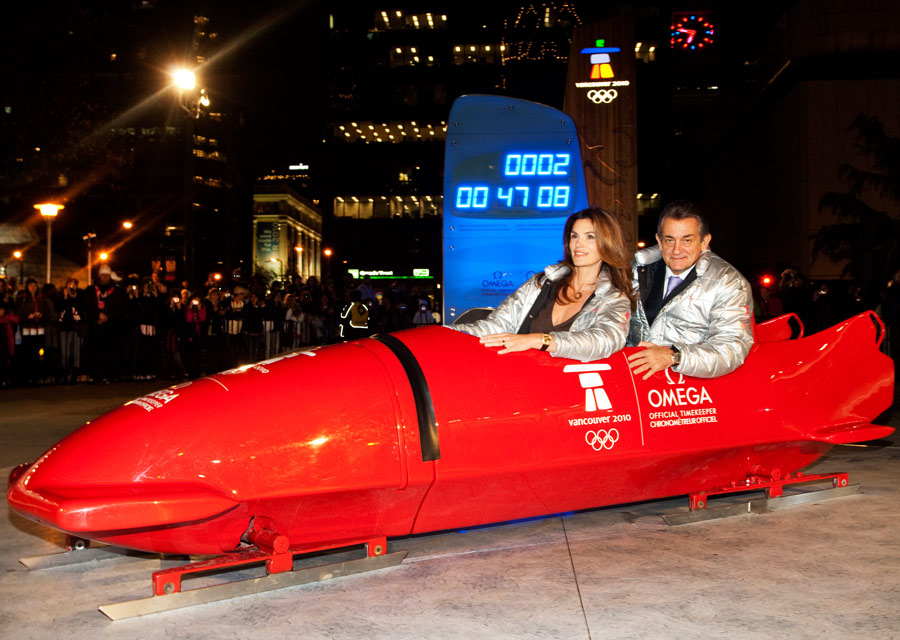 2010 - JO de Vancouver - Cindy Crauwford avec Stephen Urquhart