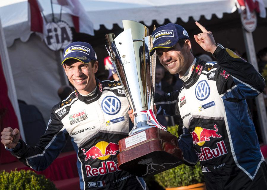 Richard Mille vainqueur du Rallye de Monte-Carlo avec Sébastien Ogier