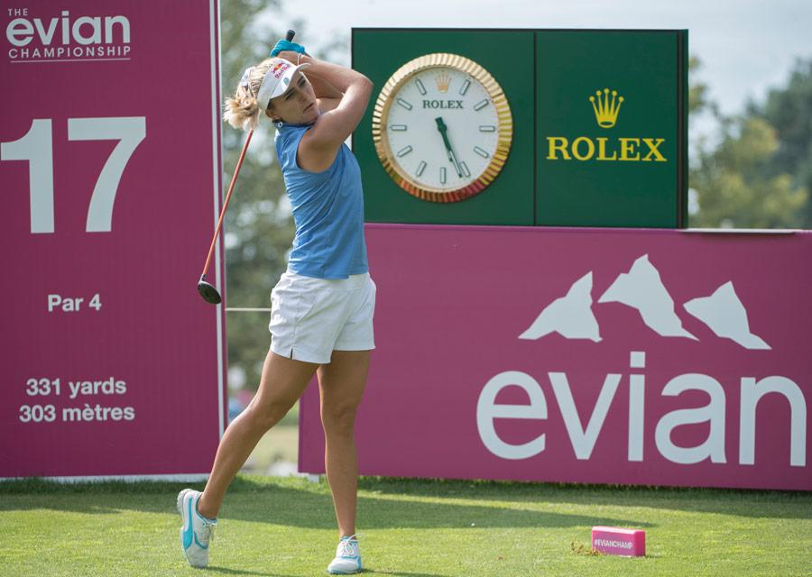 Le regard rivé sur la balle de Lexi Thompson, soutenue par Rolex,