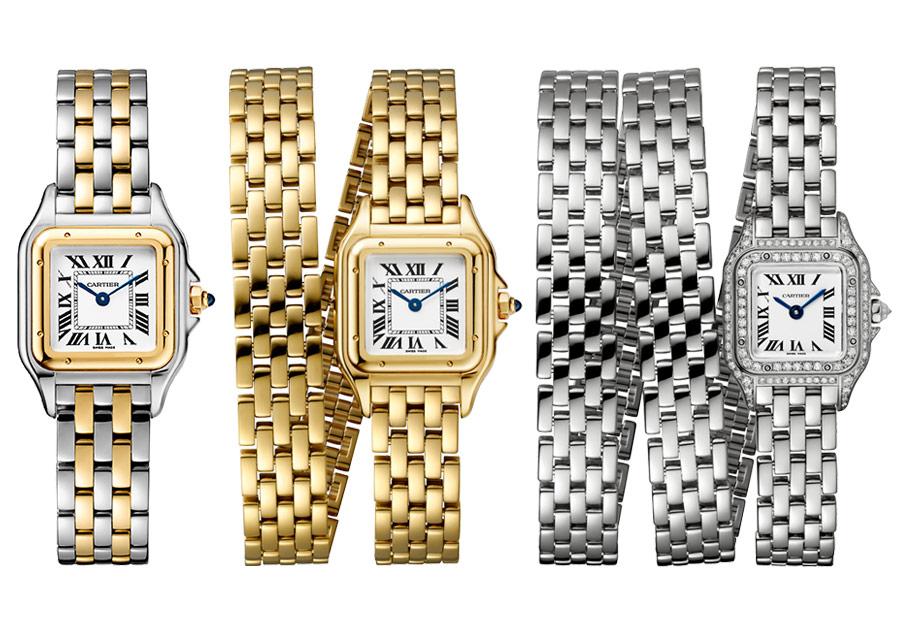 Panthère de Cartier sur bracelet simple, double ou triple tour