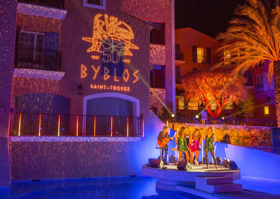 Soirée d'anniversaire des 50 ans de l'Hôtel Byblos le 26 mai 2017