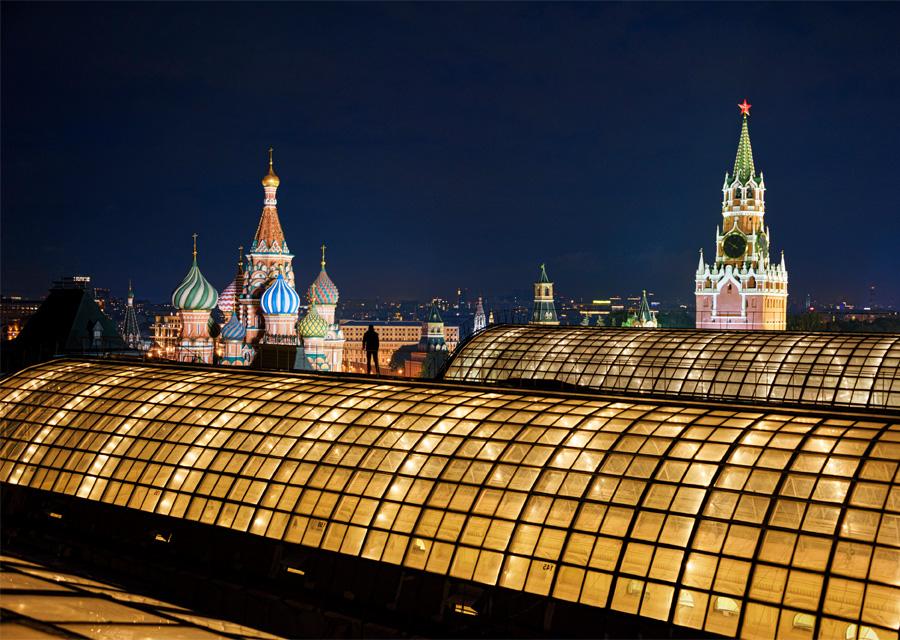 La Place Rouge depuis les toits du Goum : Moscou