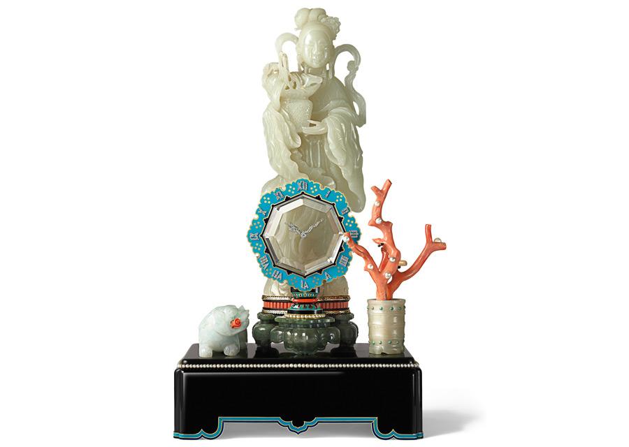 Pendule mystérieuse avec divinité, sonnerie au passage, Cartier Paris, 1931 - Marian Gérard, Collection Cartier © Cartier
