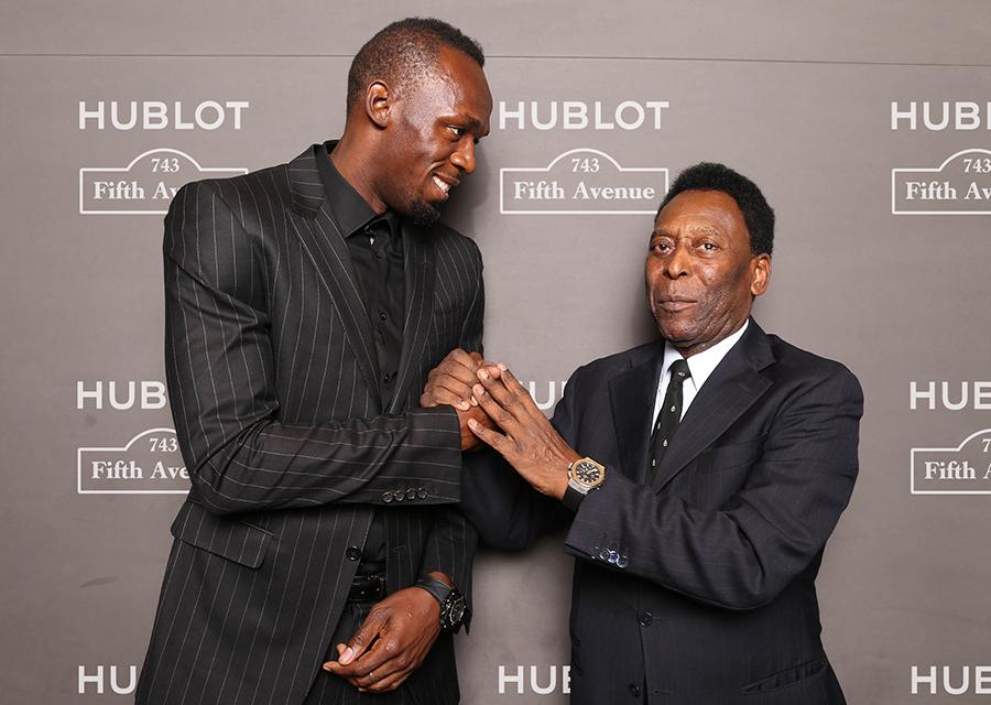 Usain Bolt et Pelé, ambassadeurs Hublot