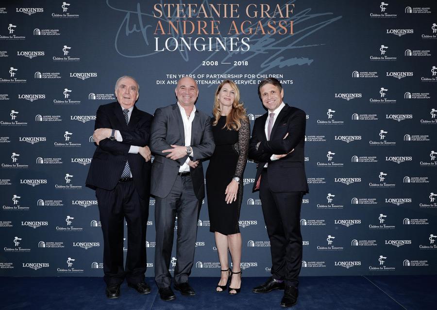 Gala de charité Longines pour soutenir Steffie Graff et Andre Agassi dans leurs actions caritatives