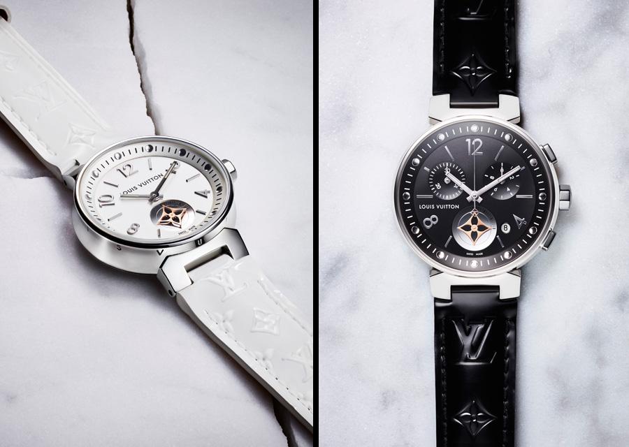 Version blanche ou version noire, la Louis Vuitton Tambour Moon Star joue la carte de l'élégance et de la modernité