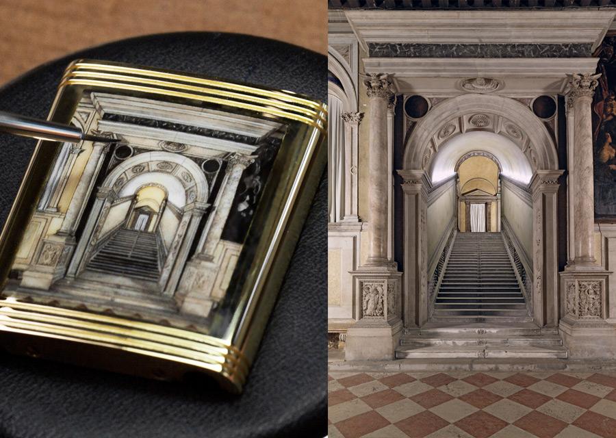 Jaeger-LeCoultre, une Reverso en hommage à la Scuola Grande di San Rocco de Venise - crédit photo (à gauche) Johann Sauty