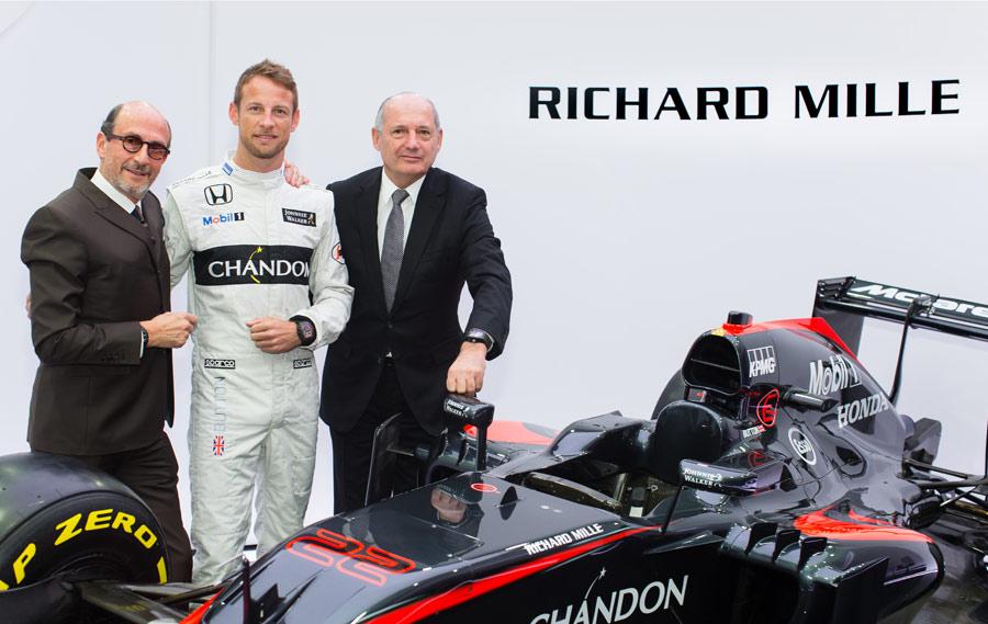 Richard Mille avec Jenson Button et Ron Dennis - © Patrick Gosling Beadyeye