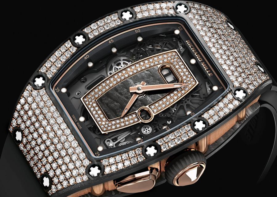SIHH 2017, Richard Mille RM 037 en carbone NTPT serti de diamants