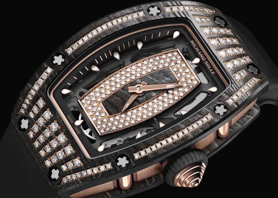 SIHH 2017, Richard Mille RM 07-01 en carbone NTPT serti de diamants