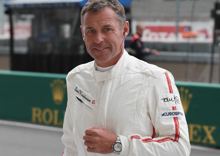 Rolex - 24 Heures du Mans - Le pilote Témoignage Rolex Tom Kristensen arborant au poignet le célèbre modèle Daytona - ©Rolex/Jean-François Galeron