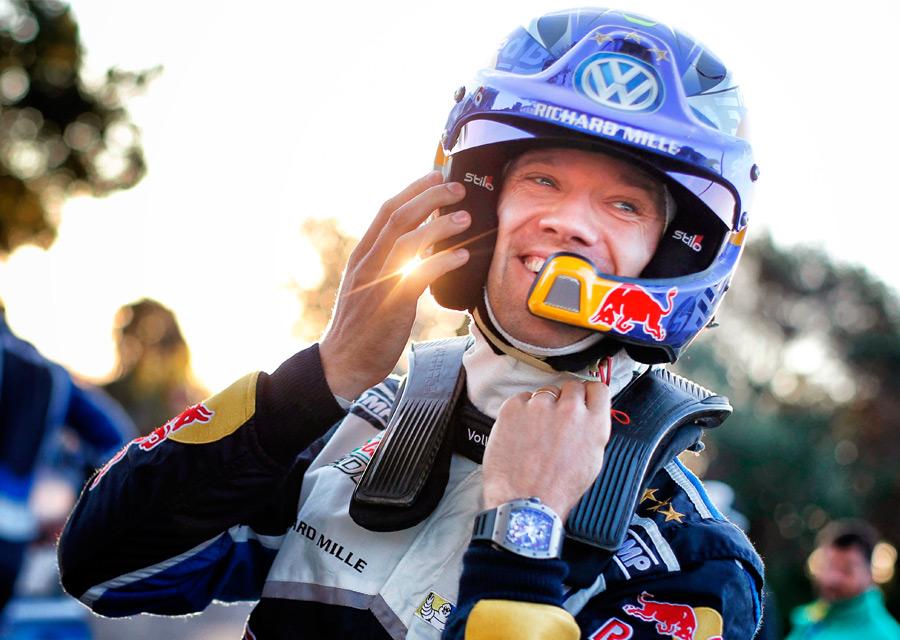 Une Richard Mille au poignet, Sébastien Ogier a remporté son 4e titre consécutif de champion du monde WRC - © Red Bull Content Pool