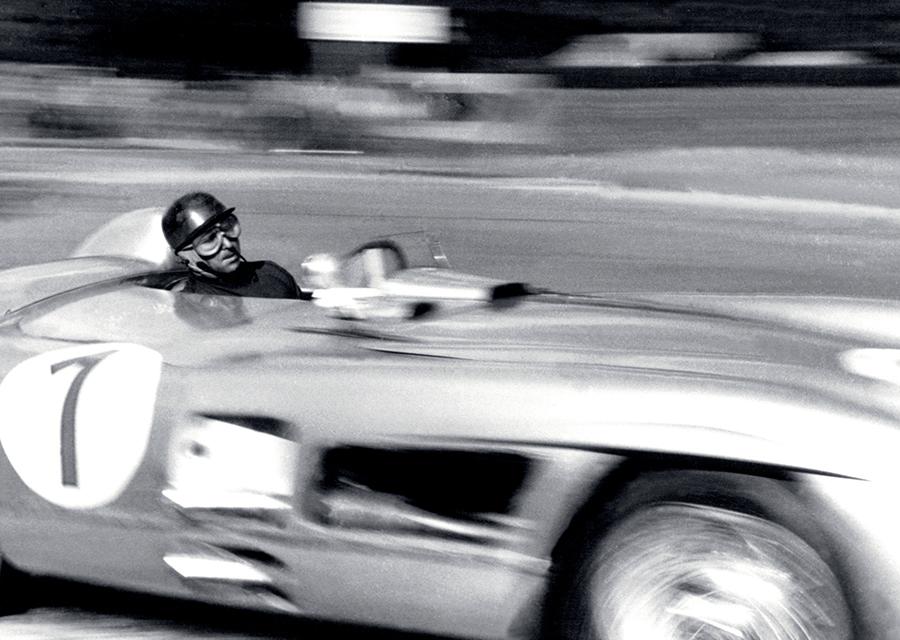 Juan Manuel Fagio driving his Mercedes