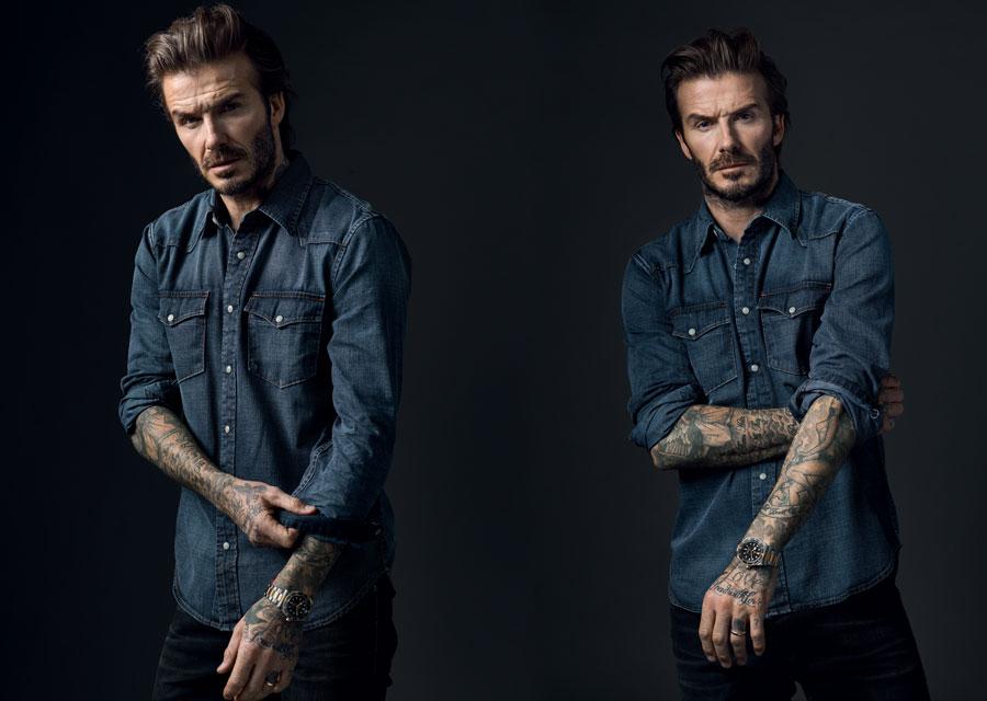 David Beckham et sa Black Bay S&G au poignet
