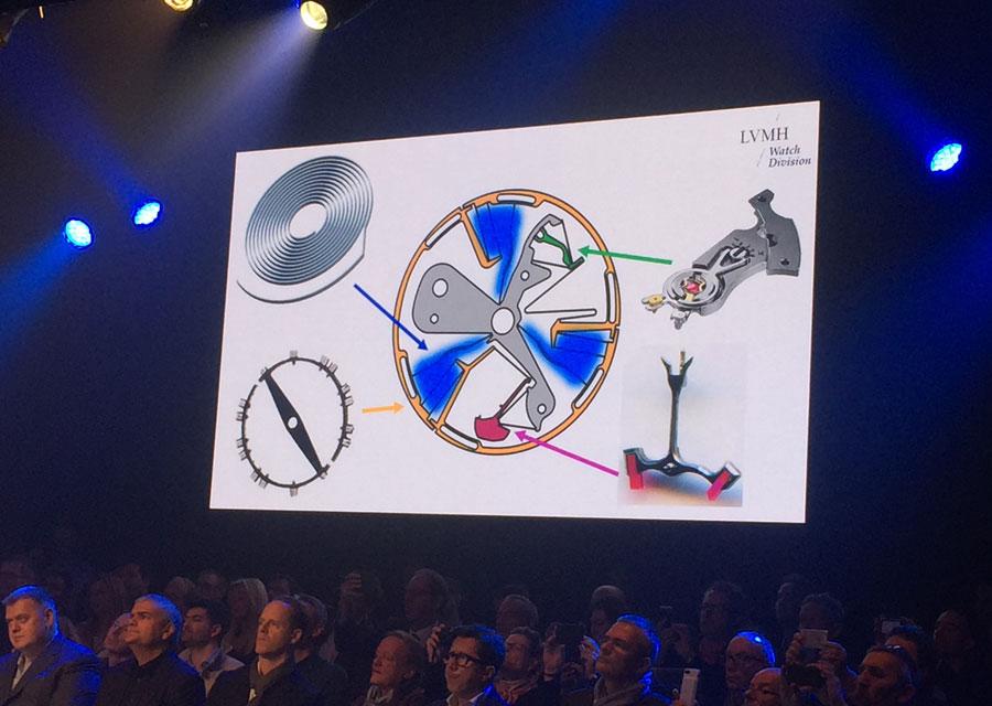 L'Oscillateur Zenith réunit en une seule pièce les éléments d'un balancier-spiral traditionnel