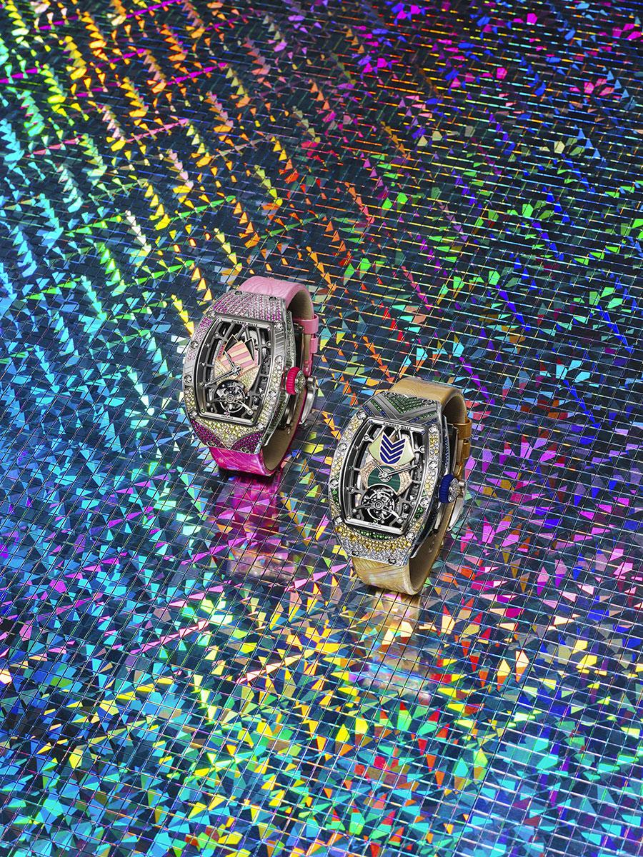 Les modèles Carmen et Bianca de la nouvelle collection Richard Mille RM71-02 Tourbillon Automatique Talisman.