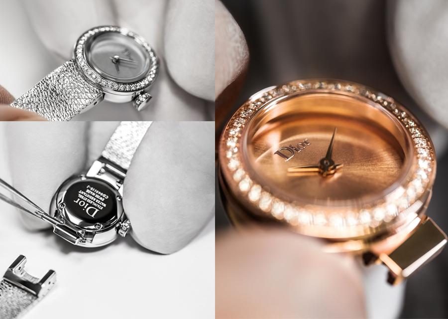 La Mini D de Dior en acier ou en rose