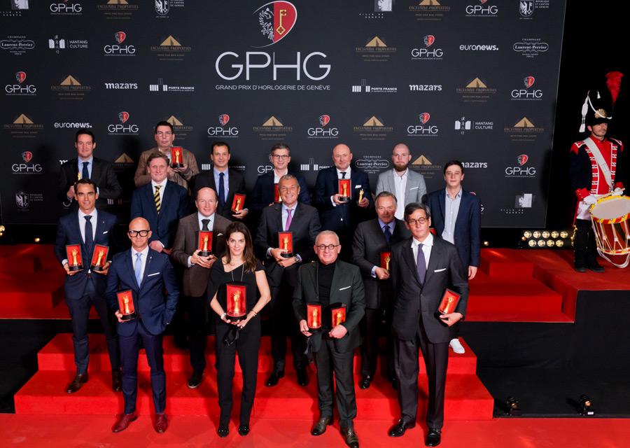 Les lauréats du GPHG 2020 et leur trophées
