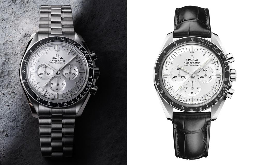 L'Omega Speedmaster Moonwatch Master Chronometer est aussi éditée en deux versions en or Canopus™