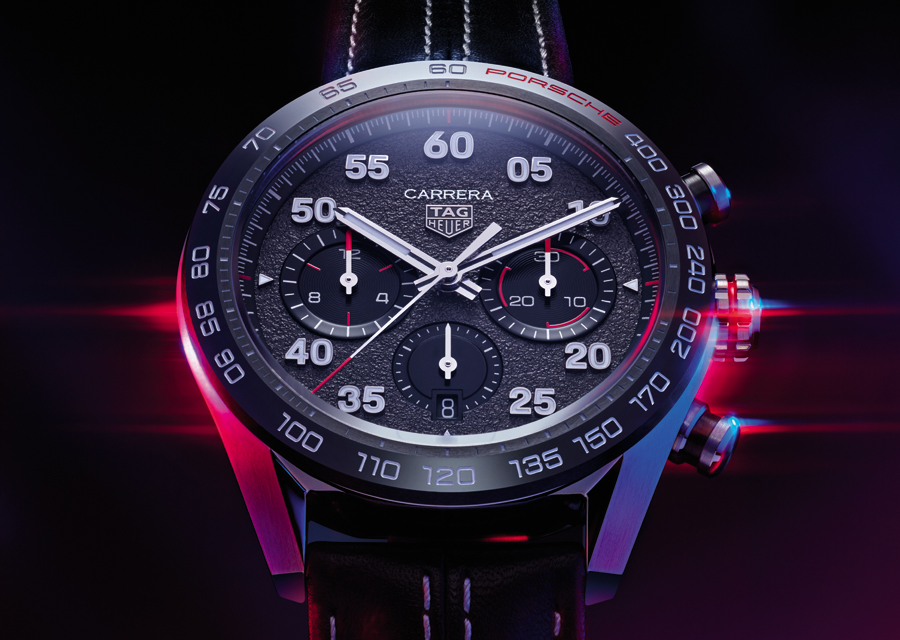 Le Chronographe TAG Heuer Carrera Porsche est une édition spéciale au design très réussi