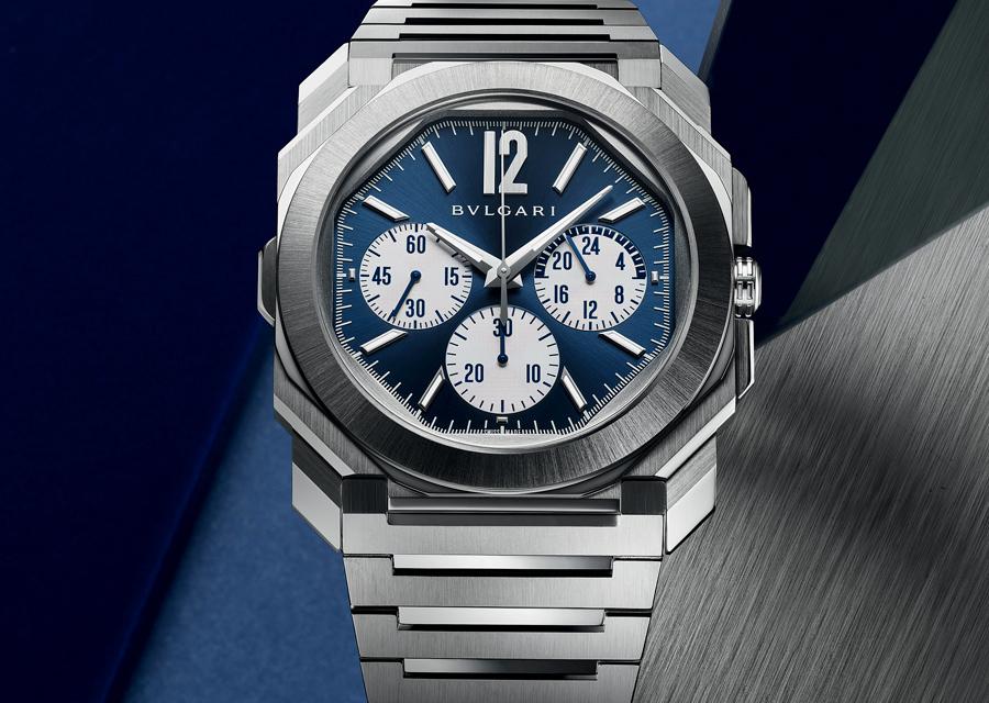 L' Octo Finissimo S Chronographe GMT en acier est une des belles nouveautés Bvlgari de la LVMH Watch Week 2021.