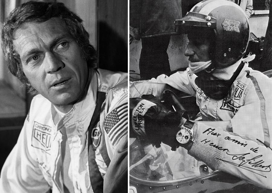 Steve McQueen dans sa combinaison de pilote sur le tournage du film Le Mans en 1970 - Photo by Andre Marc Delourmel 1971 - josiffert