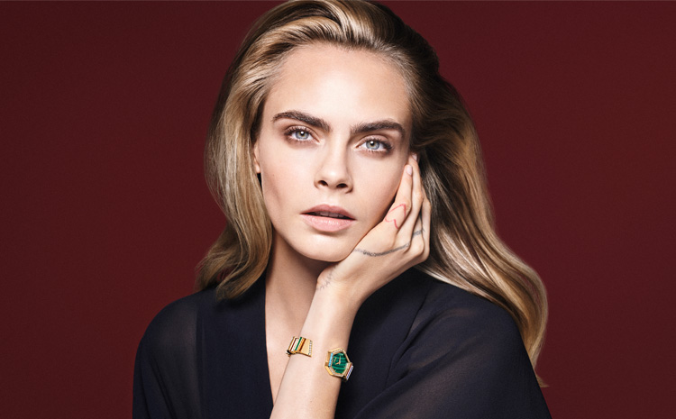 Cara Delevingne, ambassadrice de la nouvelle collection Gem Dior