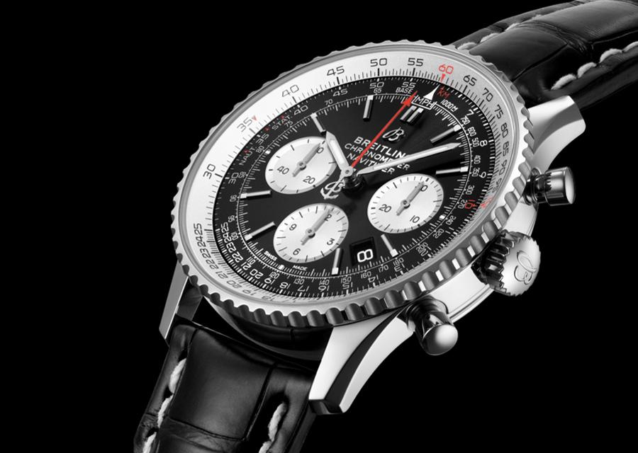 Comme le modèle originel de Breitling en 1952, cette version Navitimer B01 Chronograph 46 possède une règle à calcul circulaire