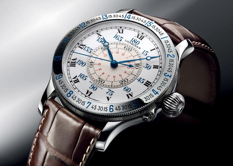 La montre Longines Lindbergh à Angle Horaire affiche un diamètre imposant de 47,5 mm