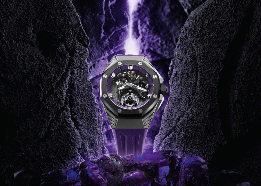 La montre Audemars Piguet Marvel Royal Oak Concept Black Panther Tourbillon Volant est déjà sold out