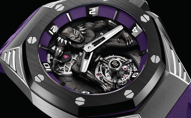 Edition limitée Audemars Piguet Marvel Royal Oak Concept Black Panther Tourbillon Volant