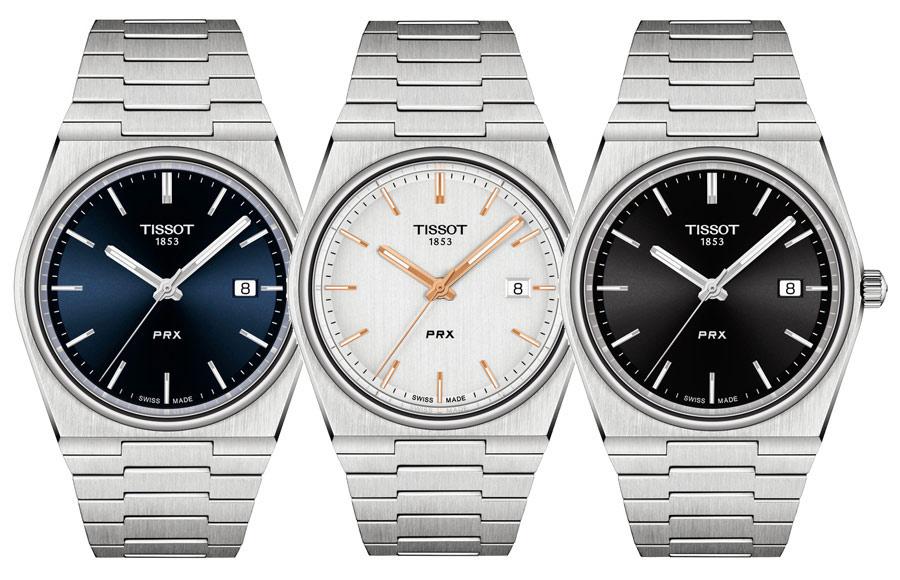 Les trois montres PRX 40 205 à mouvement à quartz