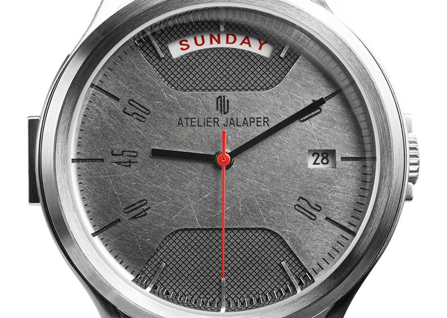 Nouveau chapitre entre l'univers des montres et l'automobile avec Ateirr Jalaper qui puise des capots de DB5 pour en faire des cadrans