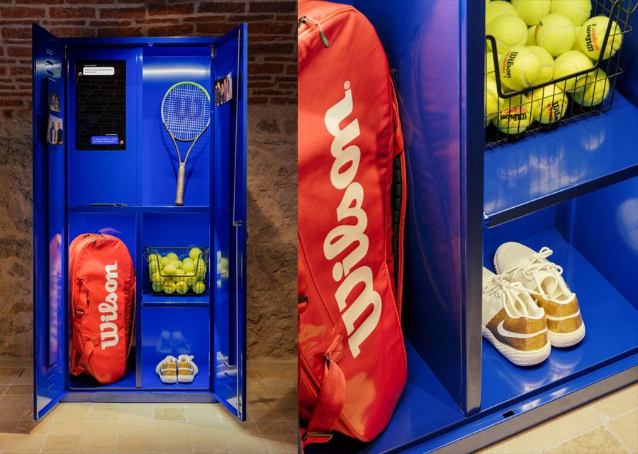 Le vestiaire reconstitué de Serena Williams à l'exposition Extraordinary Friendships