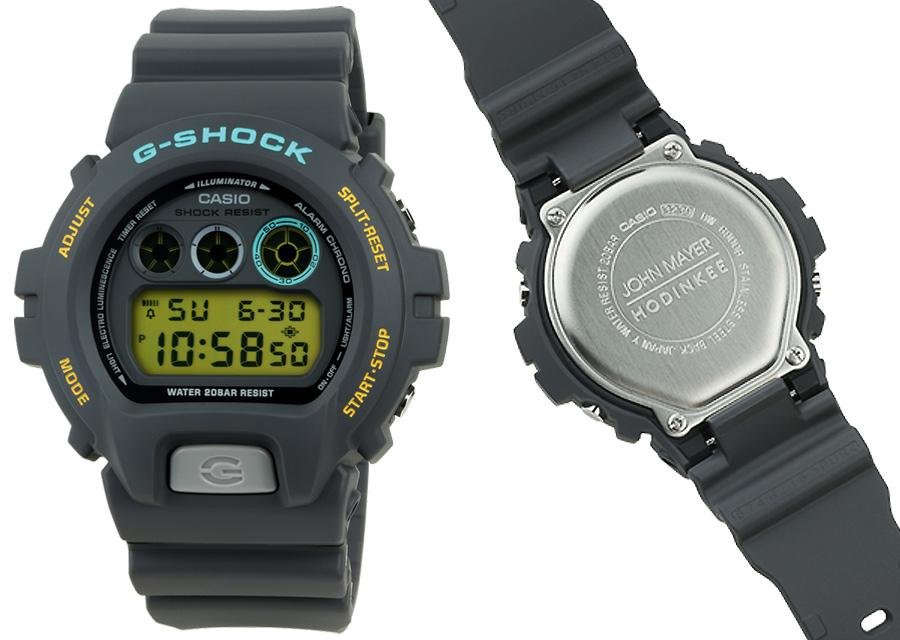 La montre Casio G-SHOCK Ref 6900 by John Mayer est en résine et acier