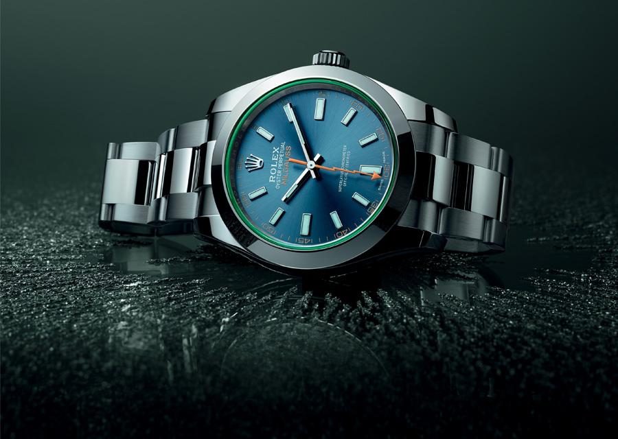 Montre Rolex Milgauss à cadran bleu Z