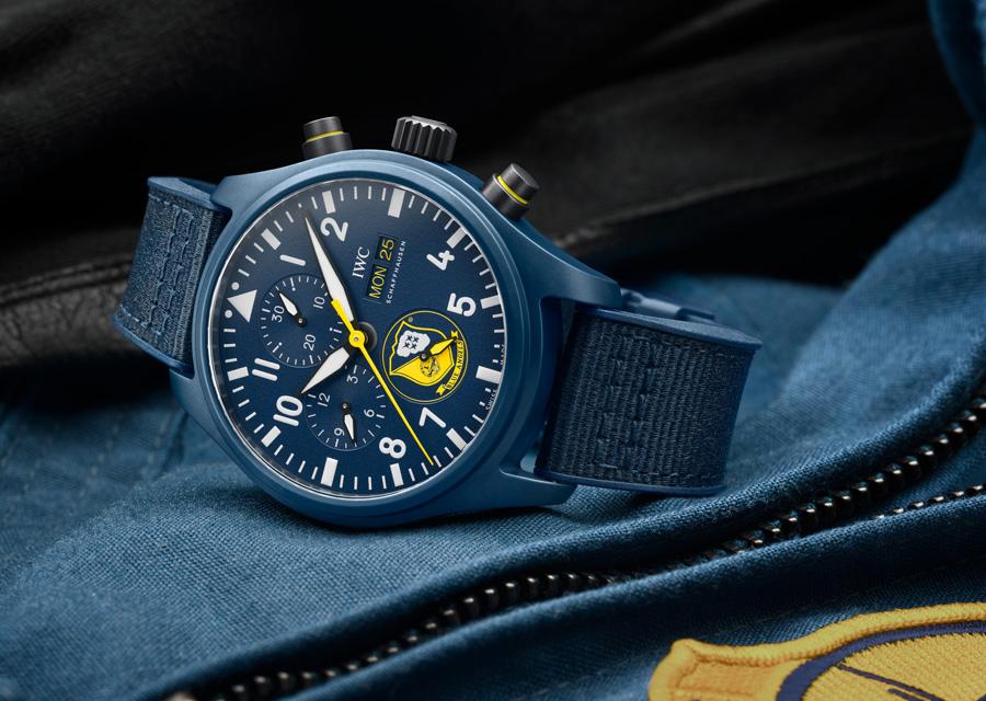 """Montre d'Aviateurs chronographe IWC """"Blue Angels"""""""