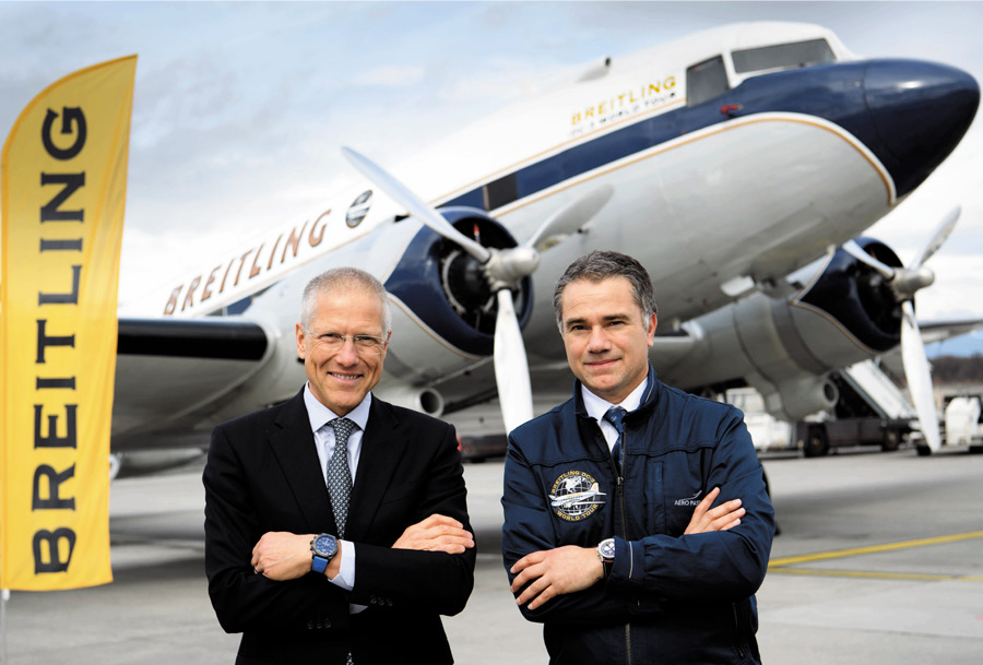 Breitling DC-3 World Tour - Jean-Paul Girardin et Francisco Agullo avant le décollage