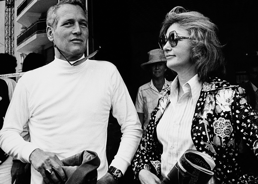 Paul Newman wearing his Daytona and his wife Joanne Woodward - Credit: Keystone France via Getty Images