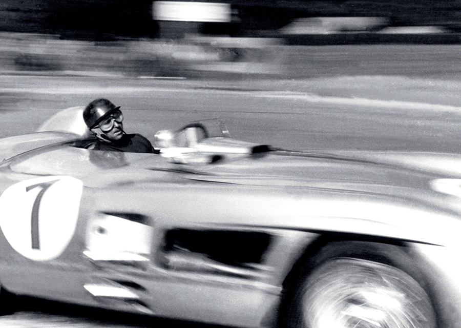 Juan Manuel Fagio driving his Mercedes