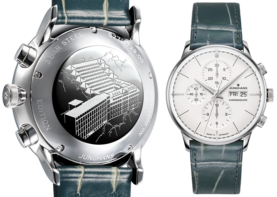 Junghans Meister Chronoscope Terrassenbau limited edition in steel