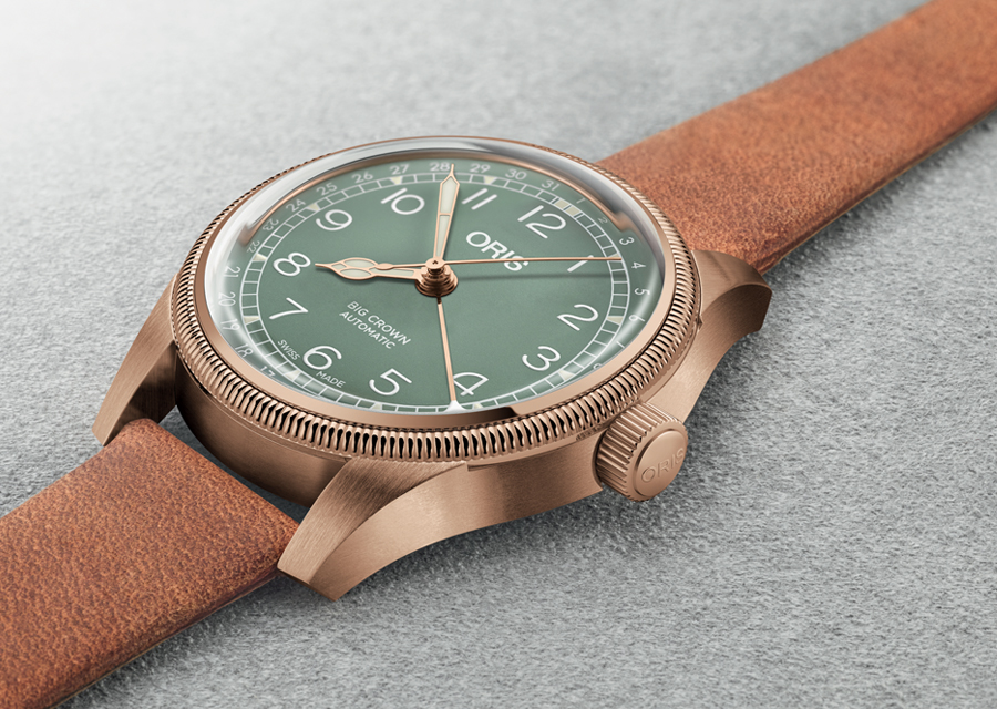 La version exclusive de la Oris Big Crown Pointer Date en bronze