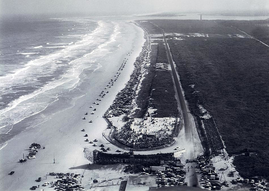 Plage de Daytona Beach - 1955 - ©ISC Archives/Getty Images