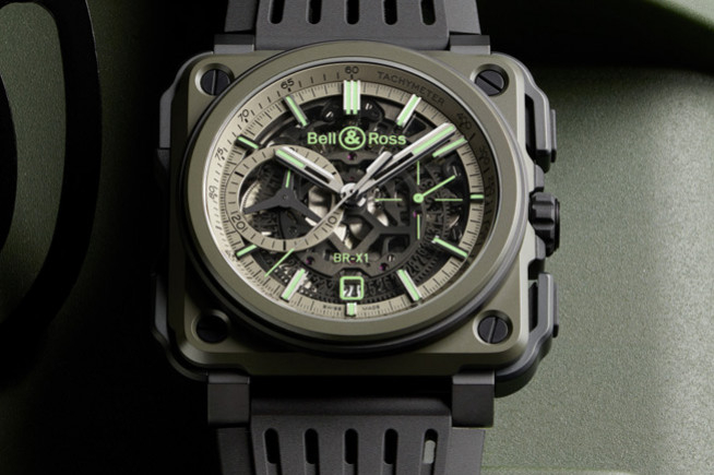 Bell&Ross BR-X1 Military, chrono super green