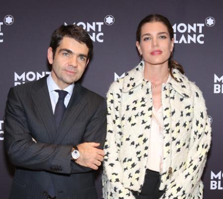 Jérôme Lambert, CEO de Montblanc, et Charlotte Casiraghi