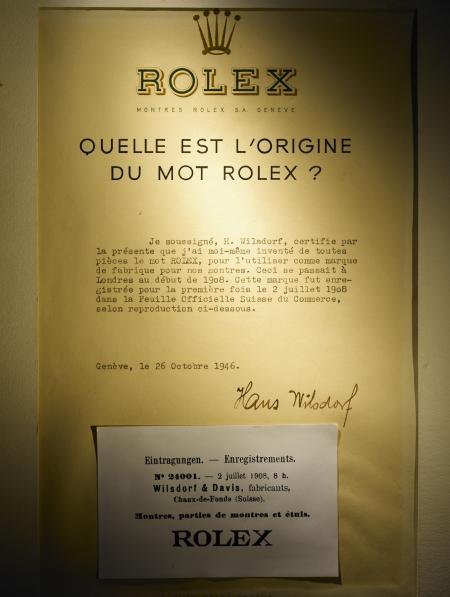 Certificat original Rolex - 1908