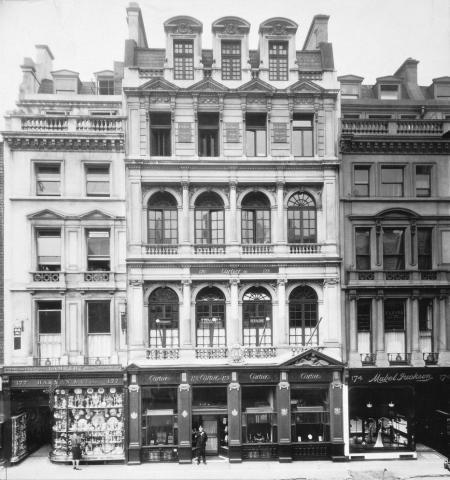 Cartier à Londres, en 1909