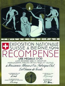 1914 - Médaille d'or à l'Exposition Nationale Suisse de Berne
