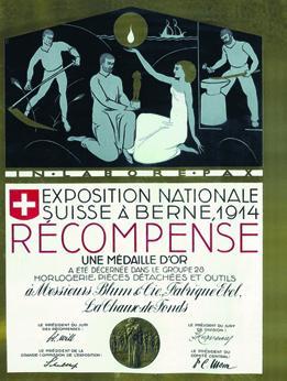1914 - Médaille d'or à l'Exposition Nationale Suisse de Berne
