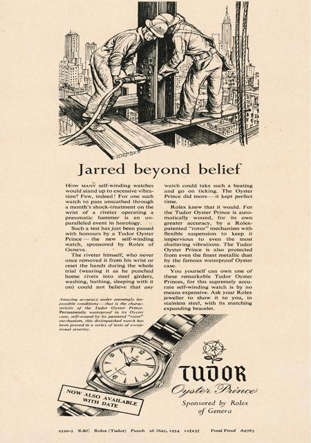 Publicité TUDOR - 1954